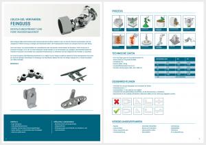 Abschnitt aus unsere neue Broschüre maßgefertigten Komponenten 11 Produktionstechnologien technisch ausgearbeitet